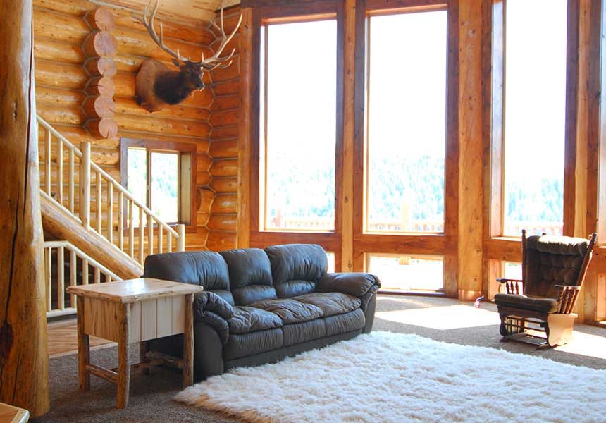 lodge interior living room