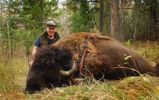 Buffalo hunting is a unique experience you can try at Rocky Mountain Elk Ranch in Idaho